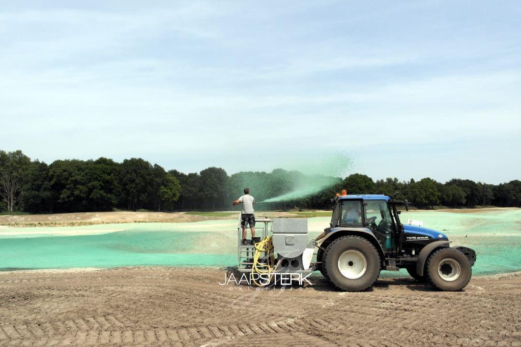 Hydroseeding Golfbaan Cromvoirt
