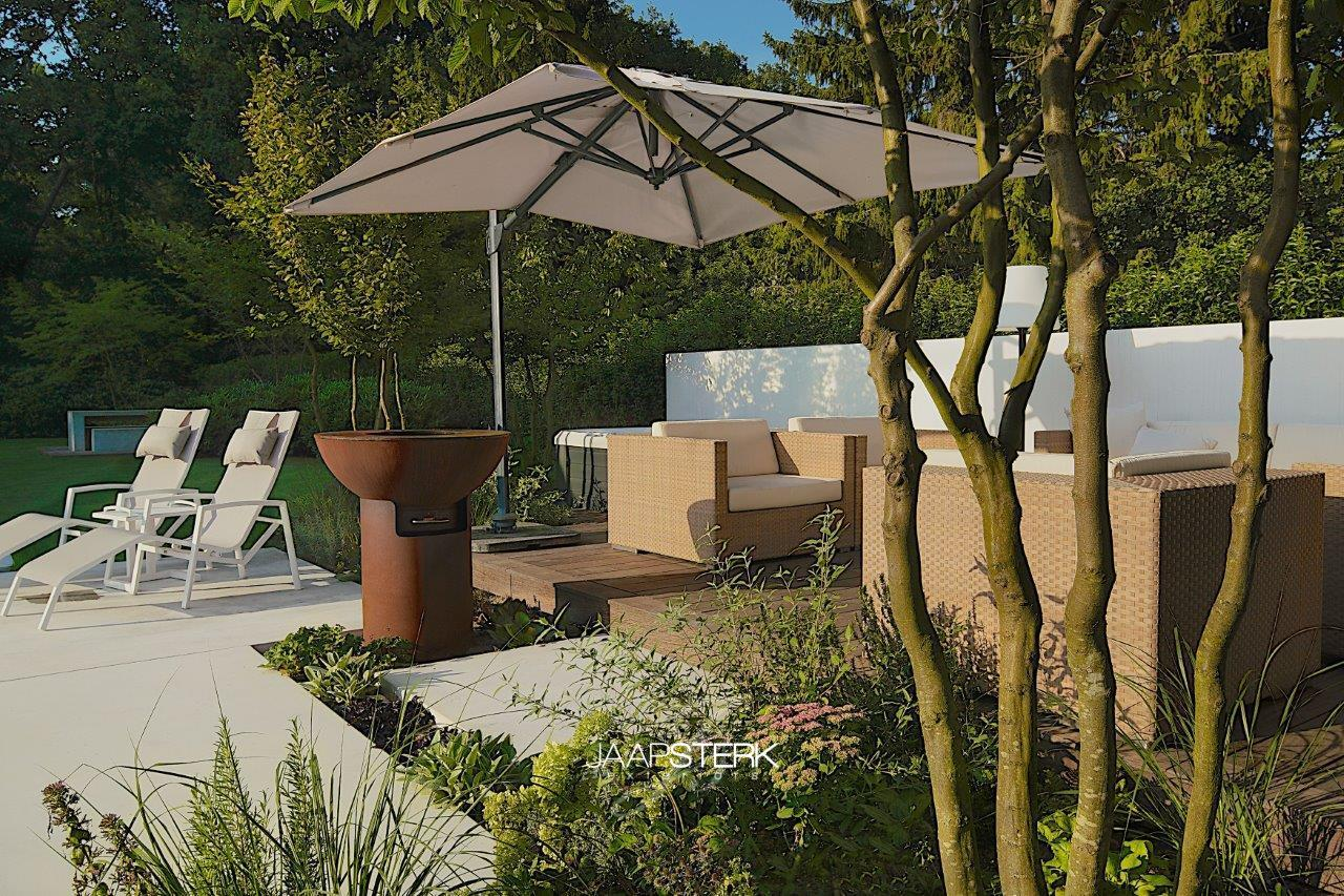 Moderne en strakke tuinarchitectuur Dedon Luxcom